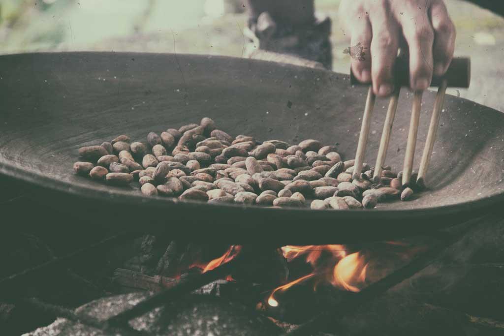 roasting-cocoa-beans